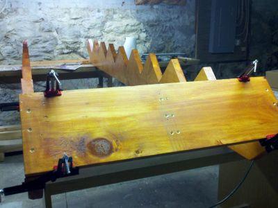 Assembling the outer stringer box.